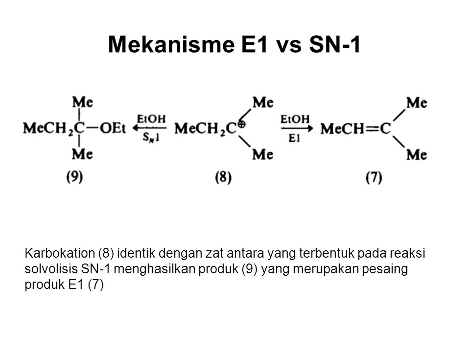 Mekanisme E1 vs SN-1