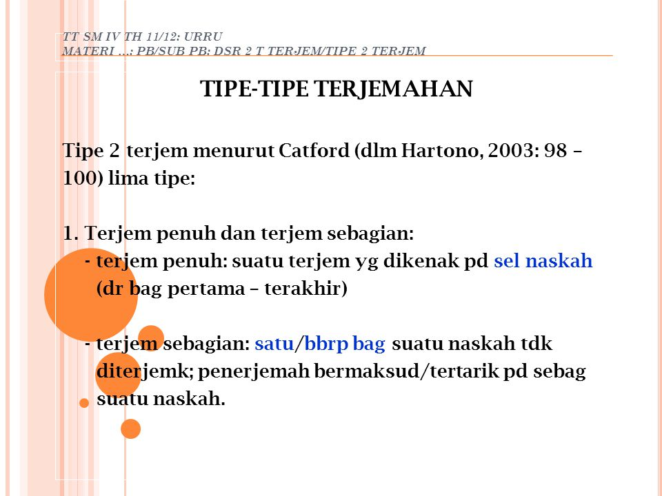 TT SM IV TH 11/12: URRU MATERI …: PB/SUB PB: DSR 2 T TERJEM/TIPE 2 TERJEM