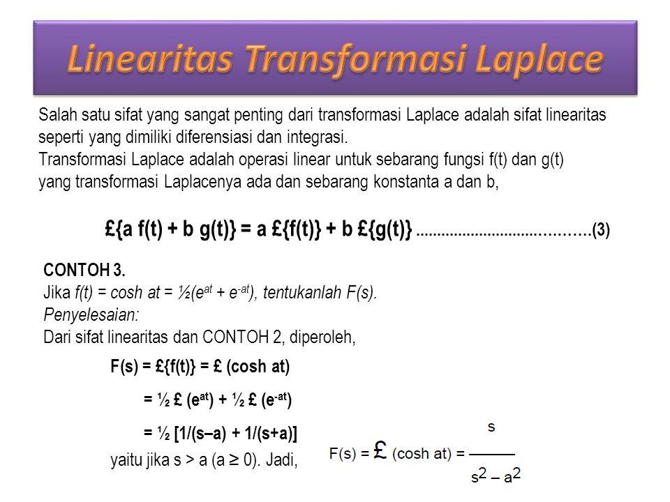 Linearitas Transformasi Laplace