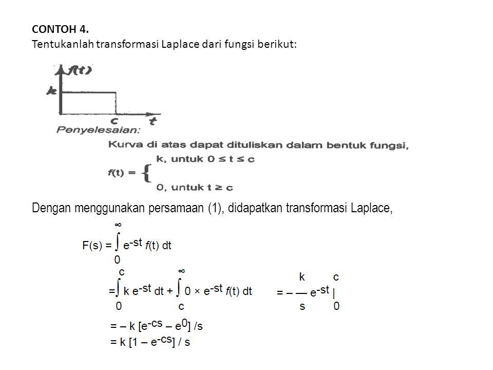 Dengan menggunakan persamaan (1), didapatkan transformasi Laplace,