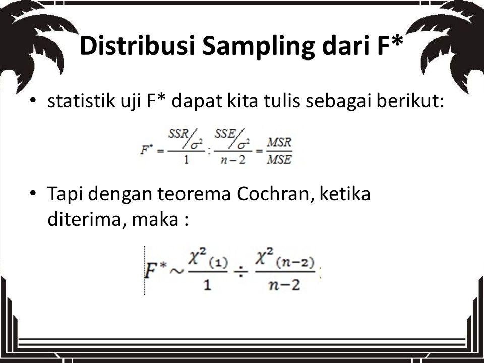 Distribusi Sampling dari F*