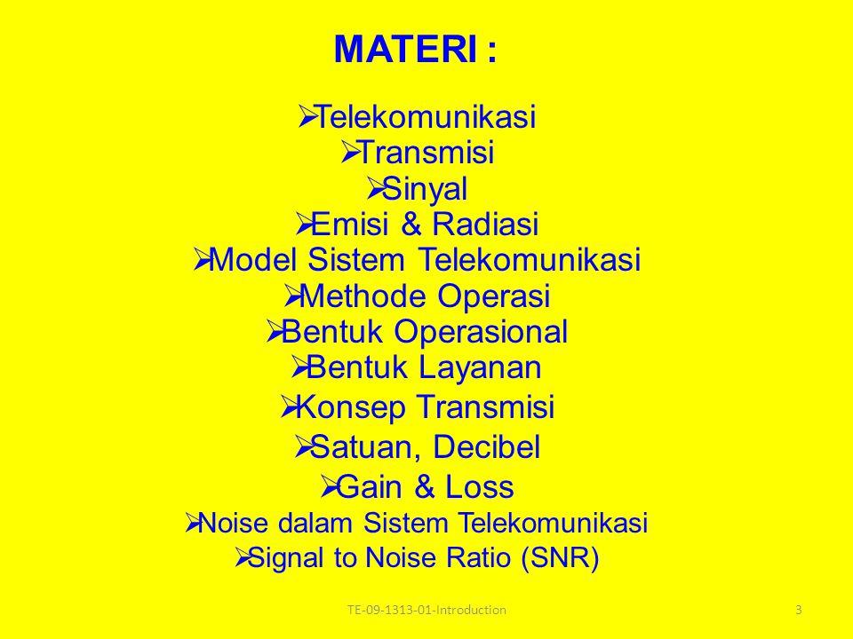 MATERI : Telekomunikasi Transmisi Sinyal Emisi & Radiasi