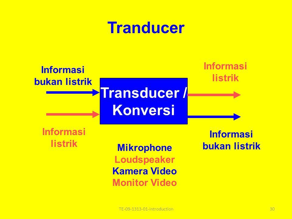 Tranducer Transducer / Konversi Informasi Informasi listrik
