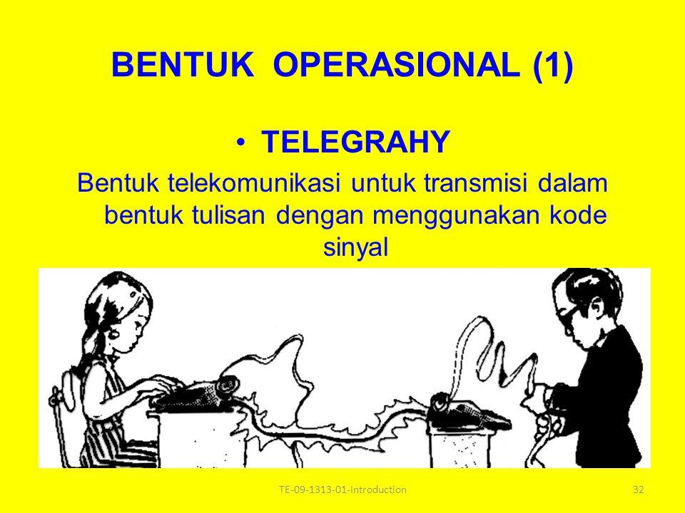 BENTUK OPERASIONAL (1) TELEGRAHY