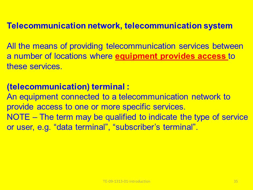 Telecommunication network, telecommunication system