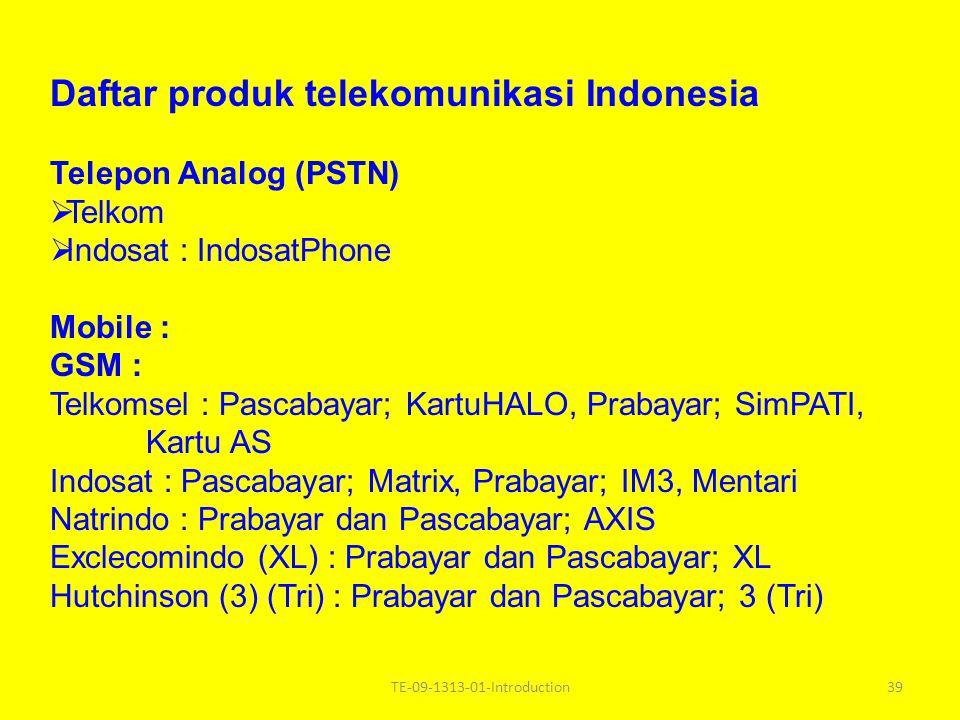 Daftar produk telekomunikasi Indonesia