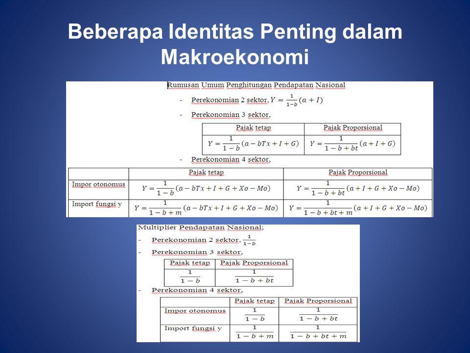 Beberapa Identitas Penting dalam Makroekonomi