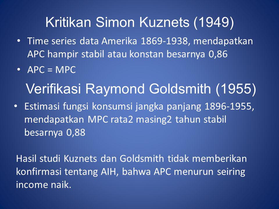 Kritikan Simon Kuznets (1949)