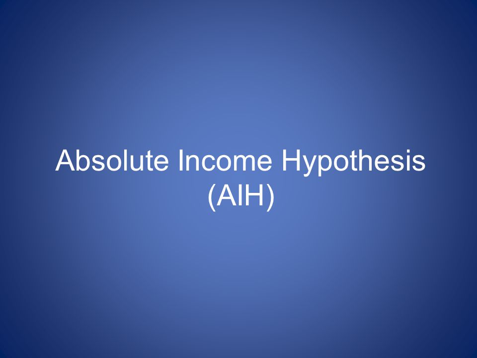 Absolute Income Hypothesis (AIH)