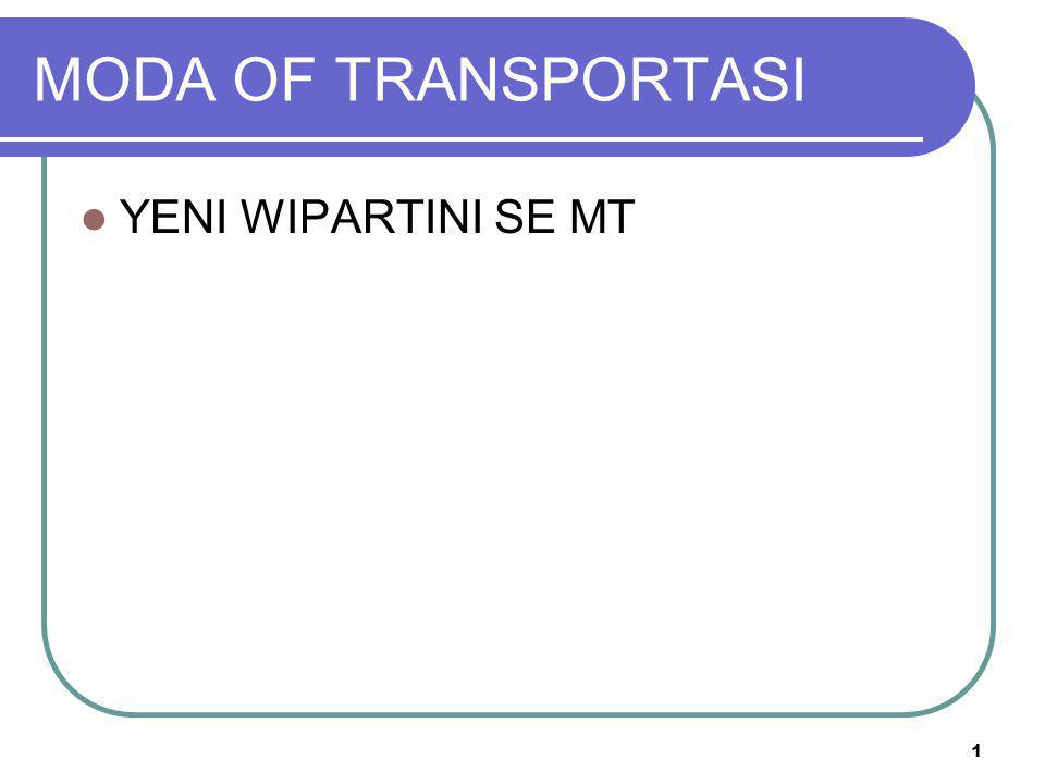 MODA OF TRANSPORTASI YENI WIPARTINI SE MT