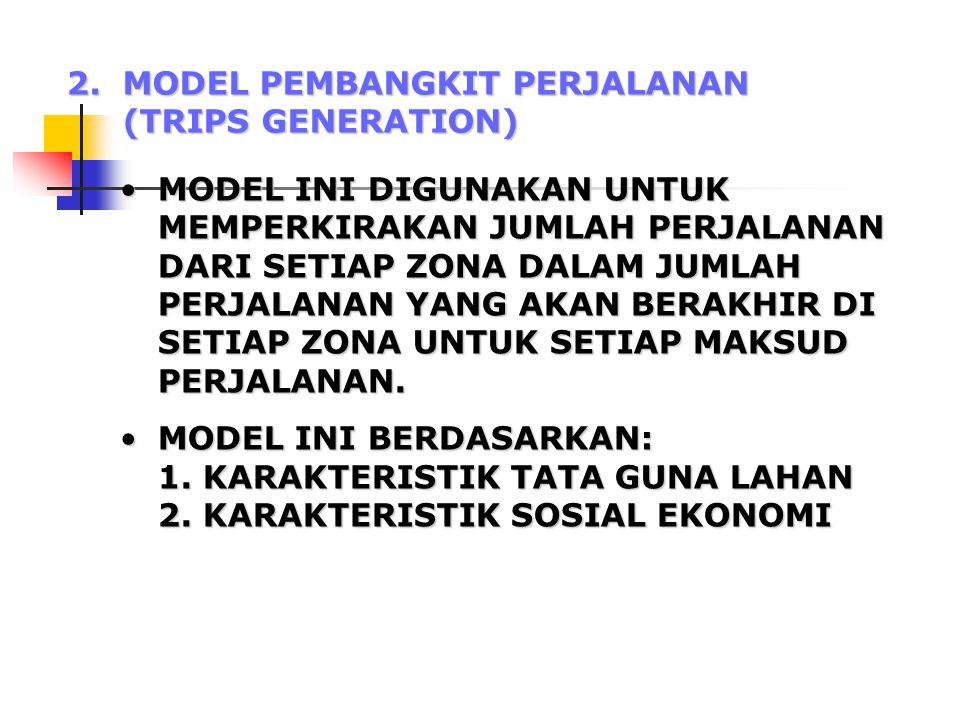 2. MODEL PEMBANGKIT PERJALANAN