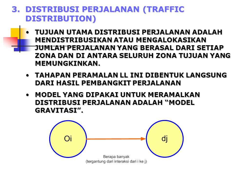 3. DISTRIBUSI PERJALANAN (TRAFFIC DISTRIBUTION)
