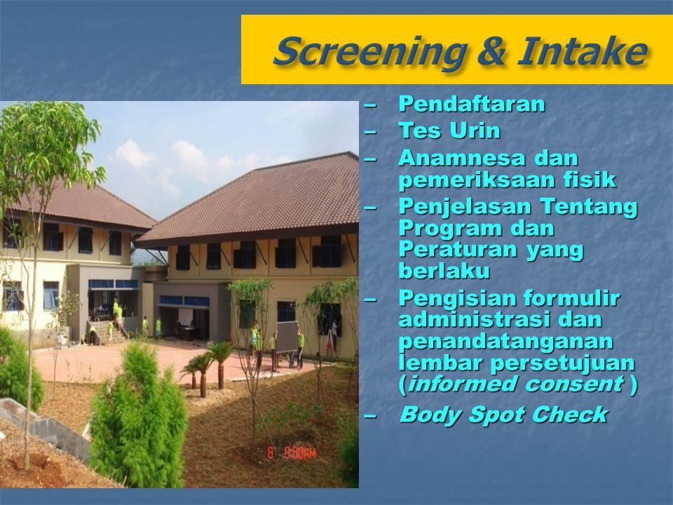 Screening & Intake Pendaftaran Tes Urin Anamnesa dan pemeriksaan fisik