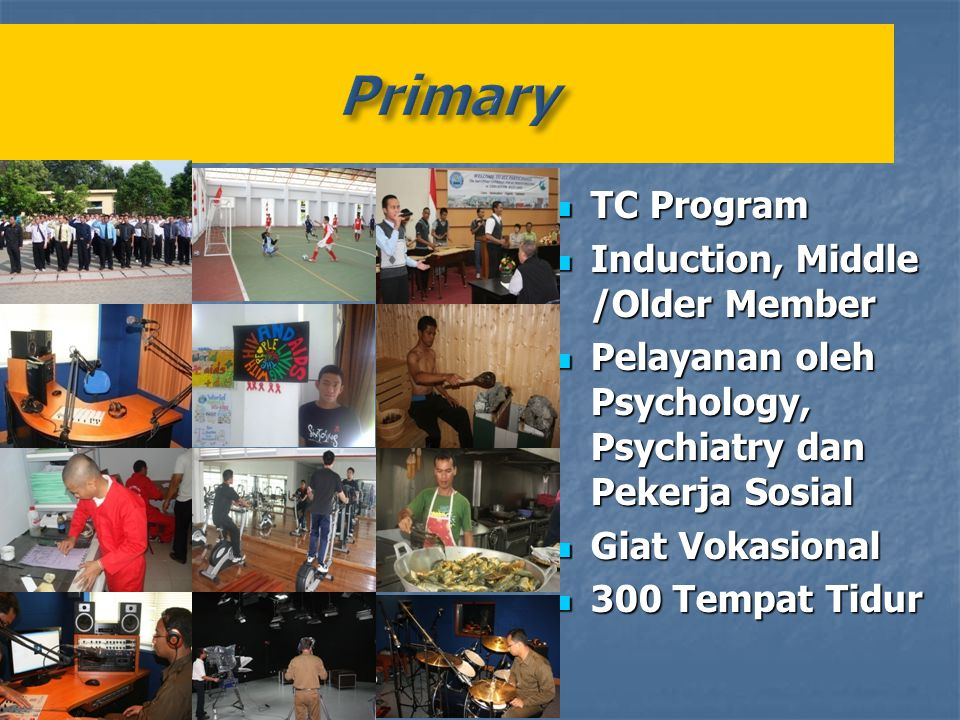 Primary TC Program Induction, Middle /Older Member