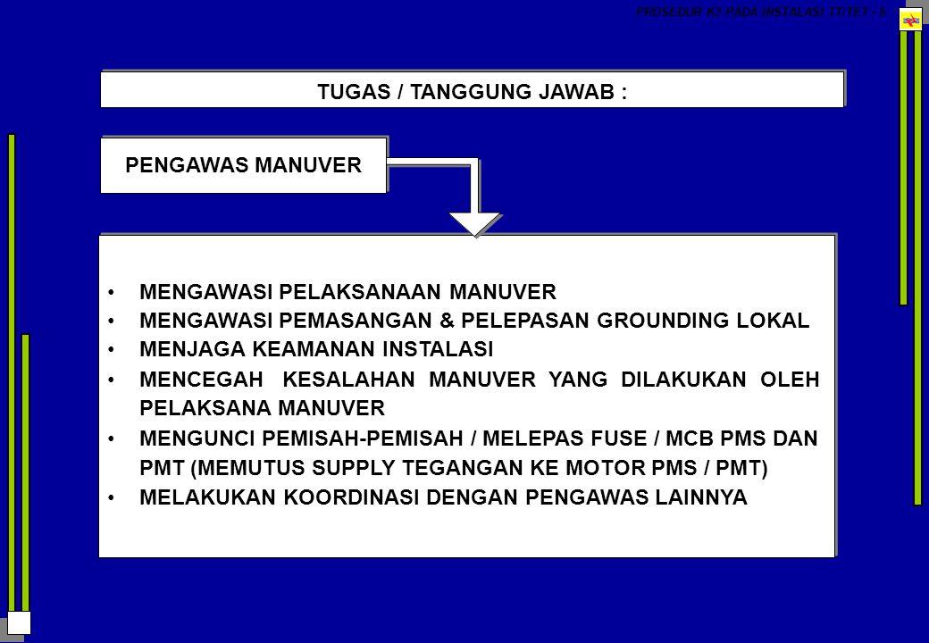 TUGAS / TANGGUNG JAWAB :