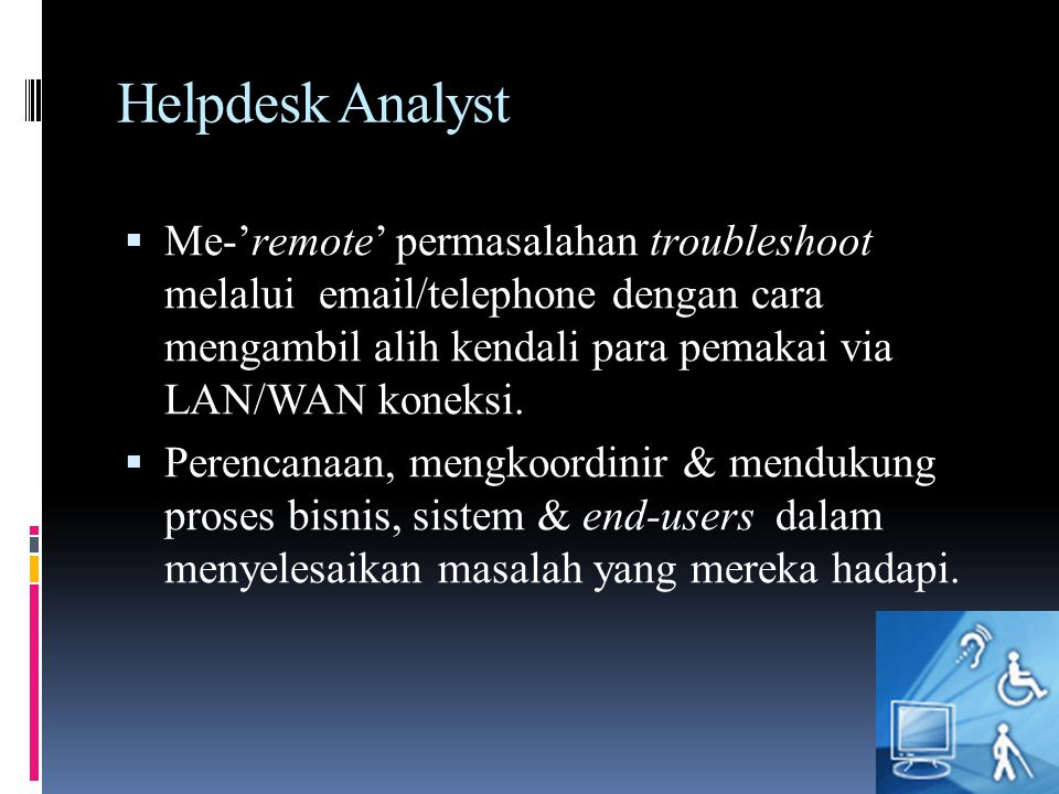 Helpdesk Analyst