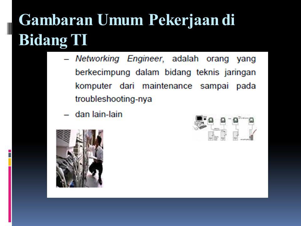 Gambaran Umum Pekerjaan di Bidang TI