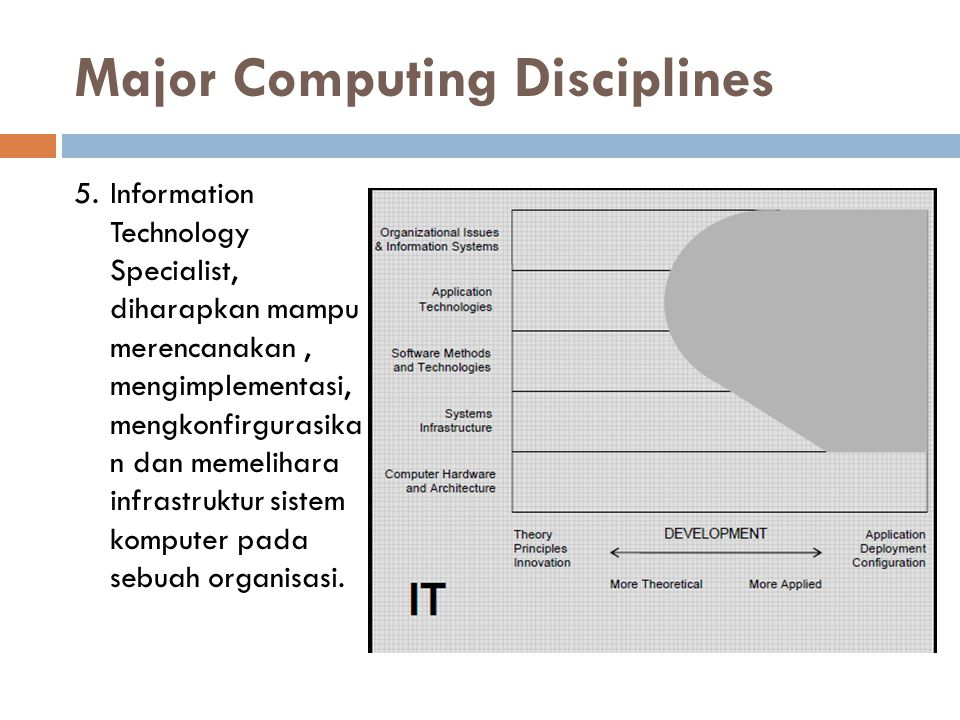 Major Computing Disciplines