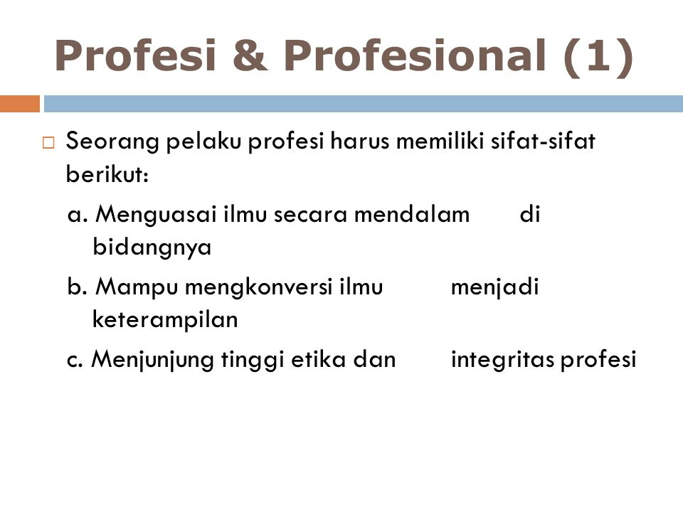 Profesi & Profesional (1)