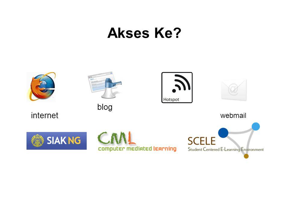 Akses Ke blog internet webmail
