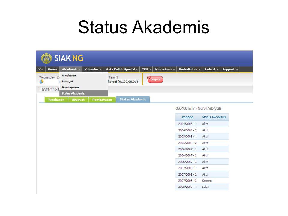 Status Akademis