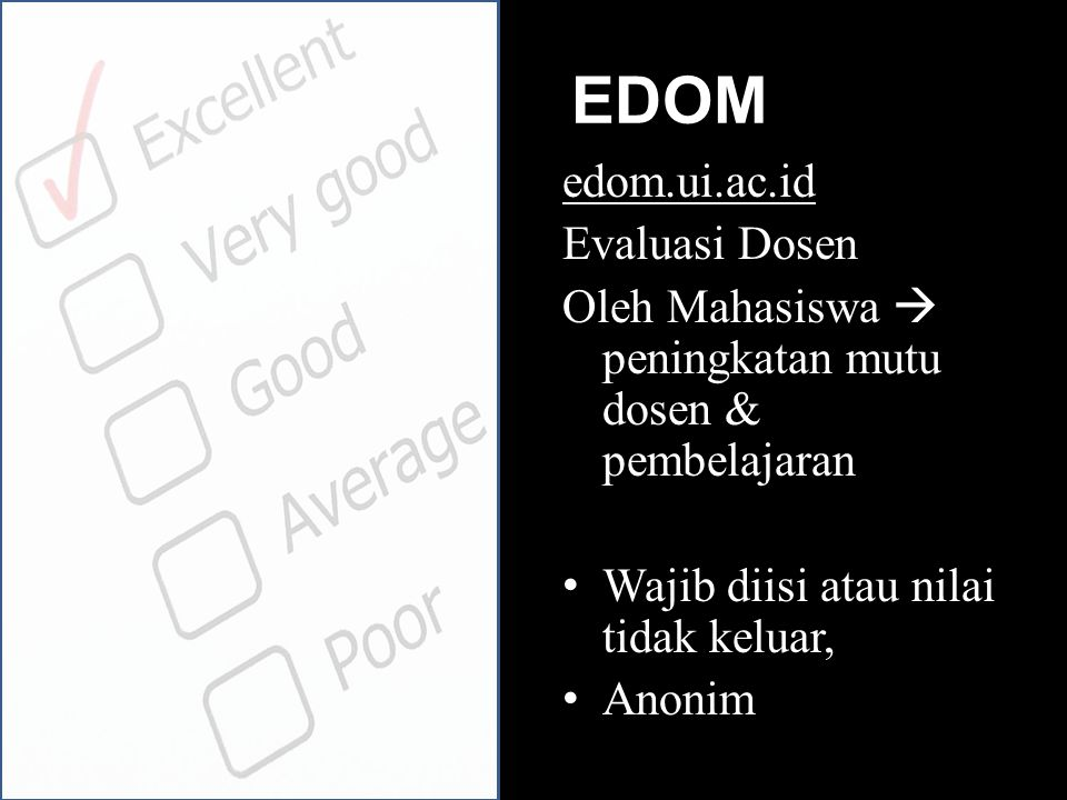 EDOM edom.ui.ac.id Evaluasi Dosen