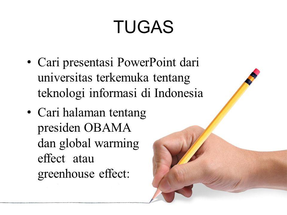TUGAS Cari presentasi PowerPoint dari universitas terkemuka tentang teknologi informasi di Indonesia.