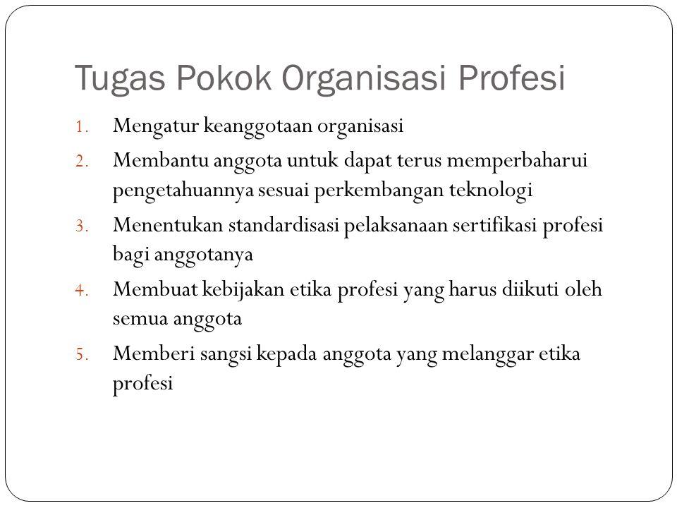Tugas Pokok Organisasi Profesi