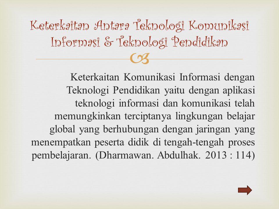 Keterkaitan Antara Teknologi Komunikasi Informasi & Teknologi Pendidikan