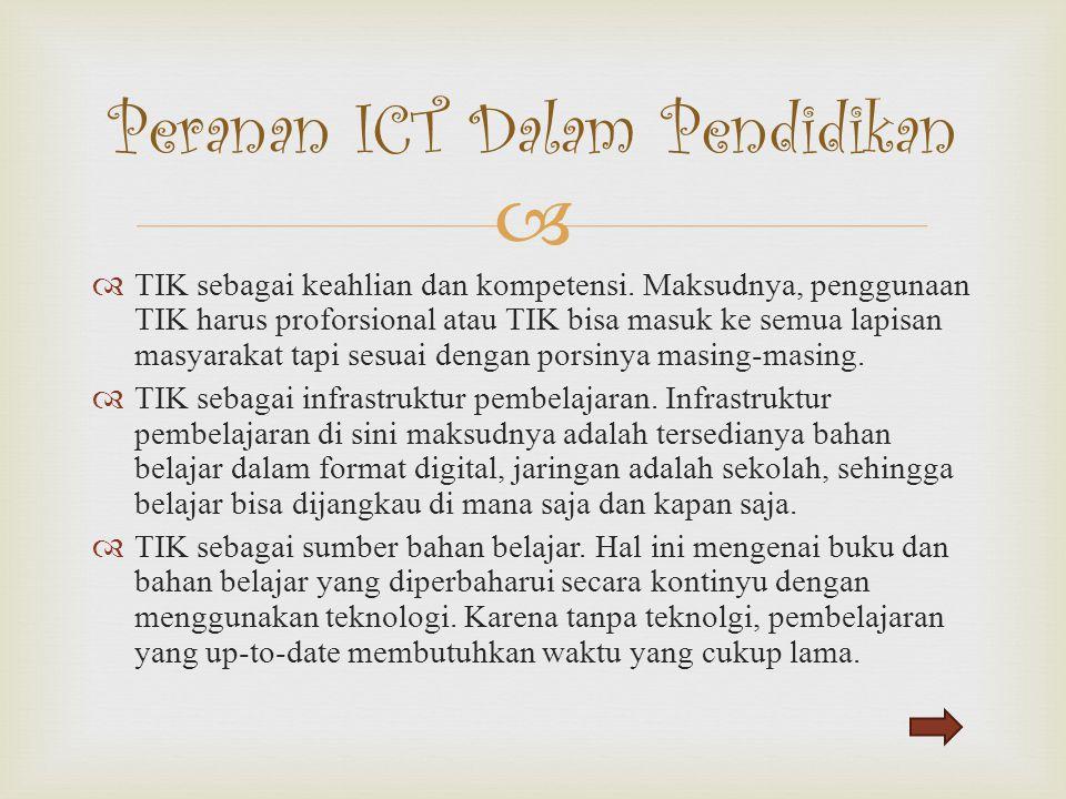 Peranan ICT Dalam Pendidikan