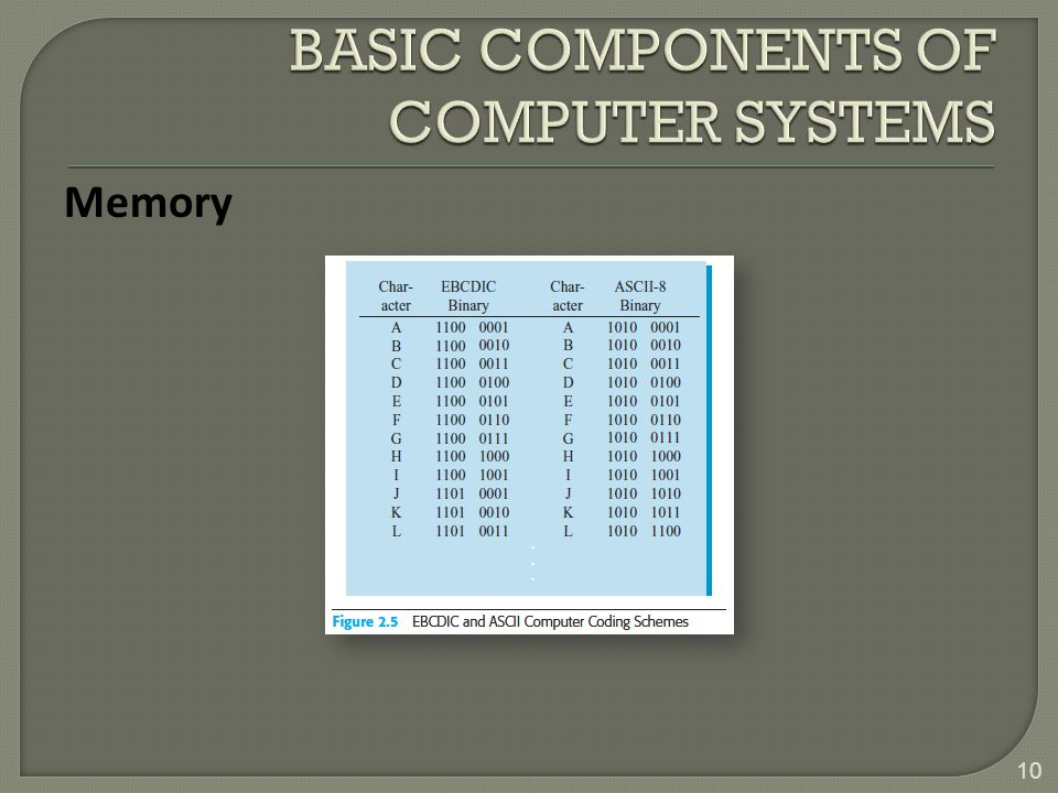 BASIC COMPONENTS OF COMPUTER SYSTEMS