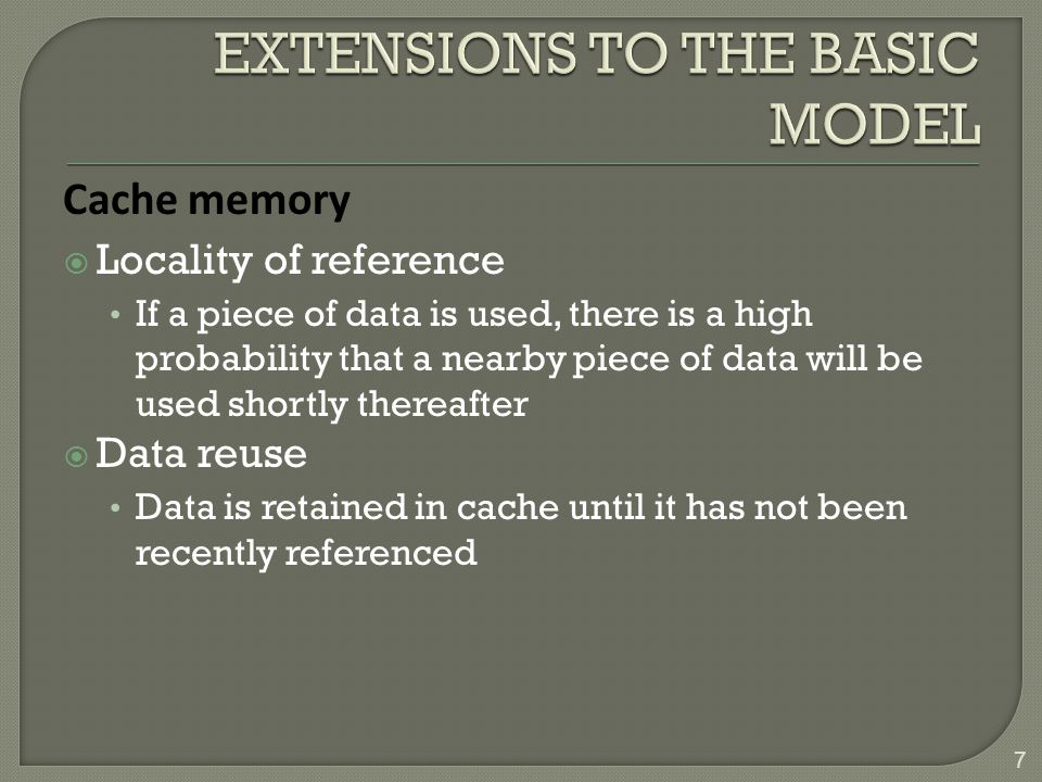 EXTENSIONS TO THE BASIC MODEL