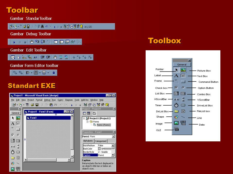 Toolbar Toolbox Standart EXE Gambar StandarToolbar