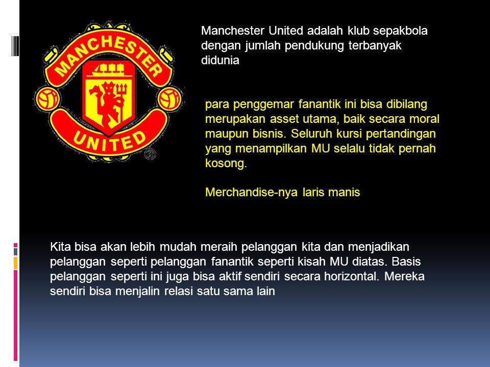 Manchester United adalah klub sepakbola dengan jumlah pendukung terbanyak didunia