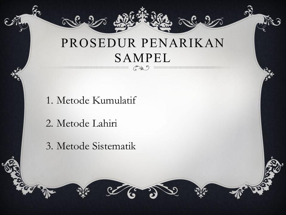 Prosedur penarikan sampel