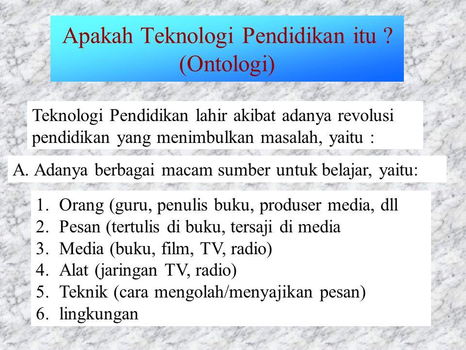 Apakah Teknologi Pendidikan itu (Ontologi)