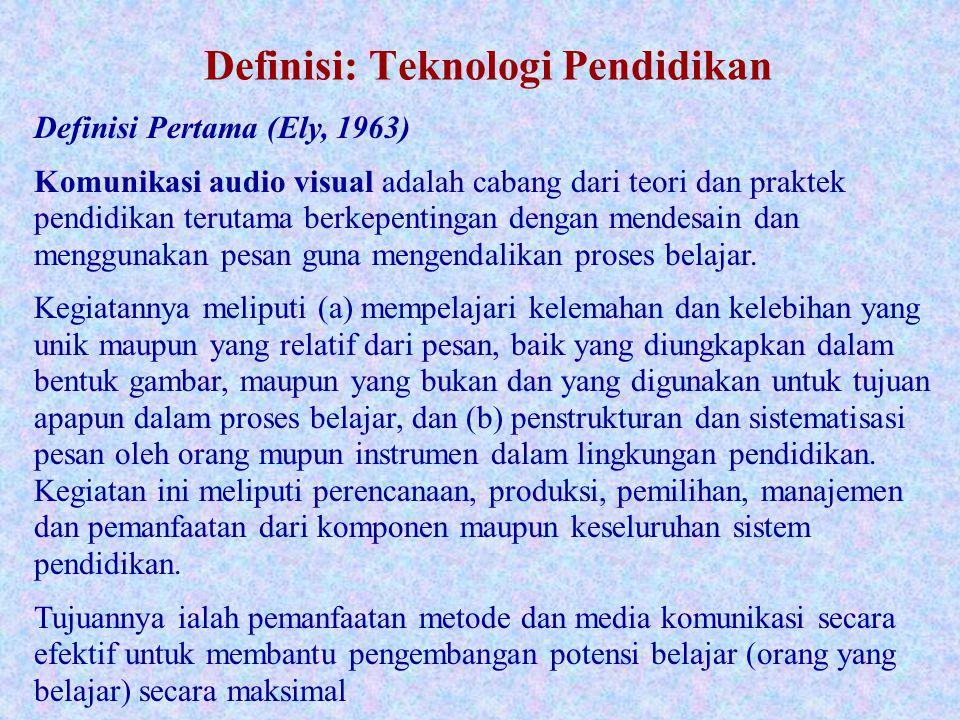 Definisi: Teknologi Pendidikan