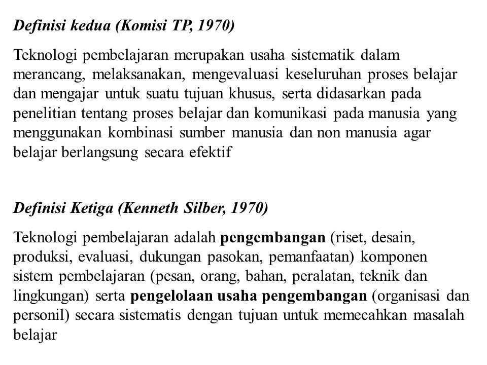 Definisi kedua (Komisi TP, 1970)