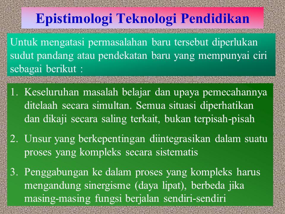Epistimologi Teknologi Pendidikan