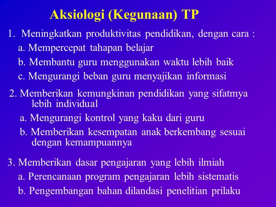 Aksiologi (Kegunaan) TP