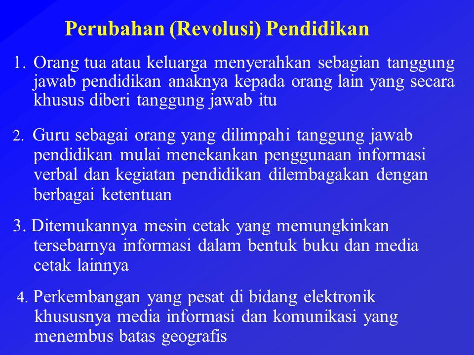 Perubahan (Revolusi) Pendidikan