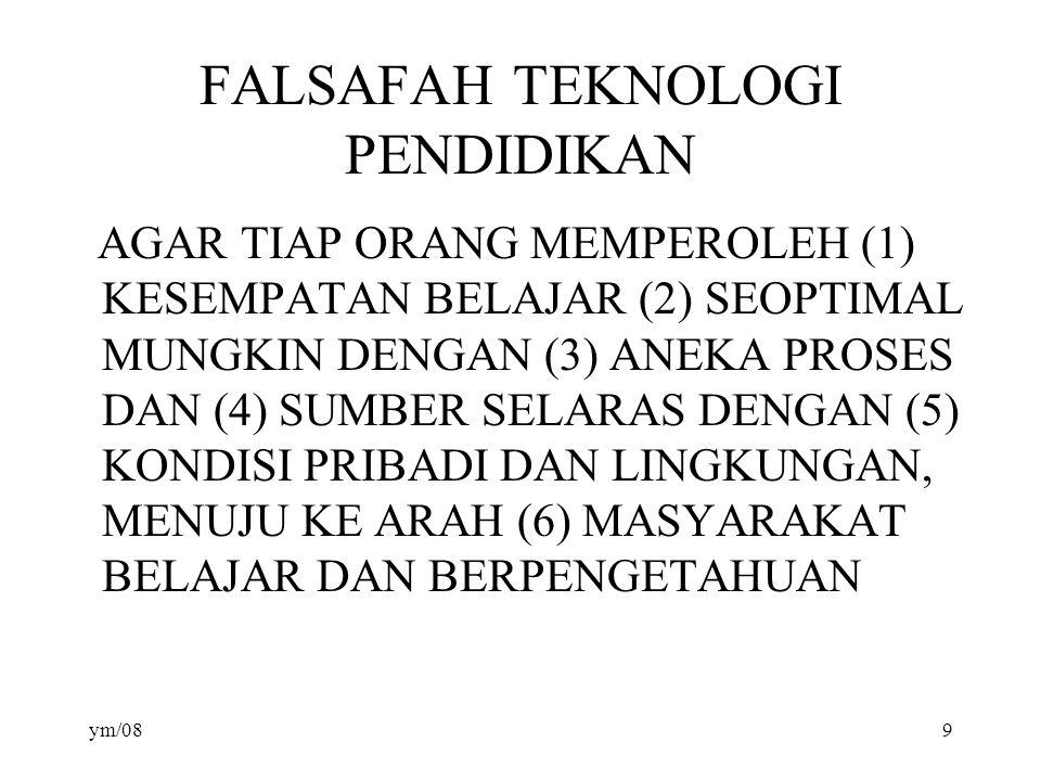 FALSAFAH TEKNOLOGI PENDIDIKAN
