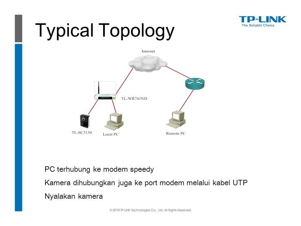 Typical Topology PC terhubung ke modem speedy