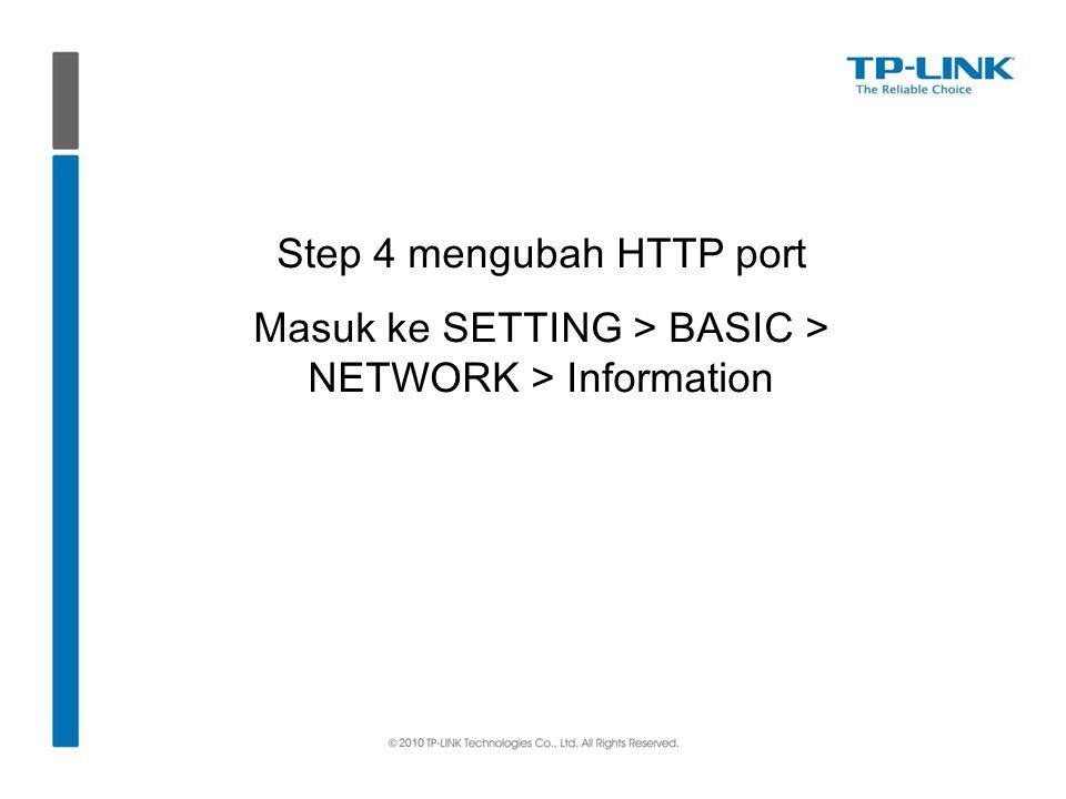Step 4 mengubah HTTP port