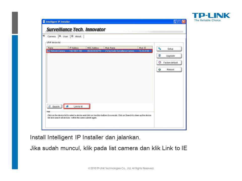 Install Intelligent IP Installer dan jalankan.