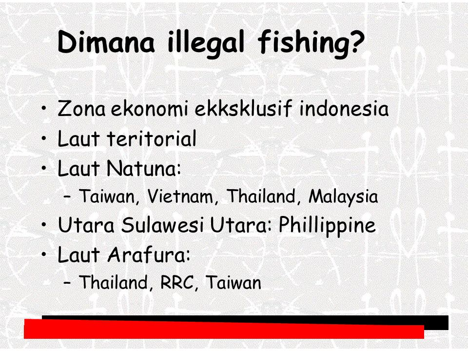Dimana illegal fishing
