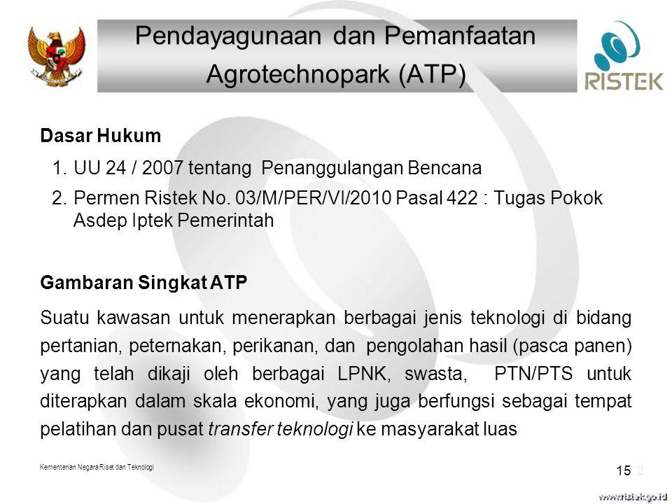 Pendayagunaan dan Pemanfaatan Agrotechnopark (ATP)