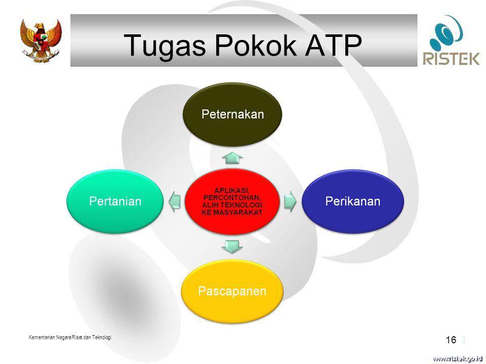 Tugas Pokok ATP Kementerian Negara Riset dan Teknologi