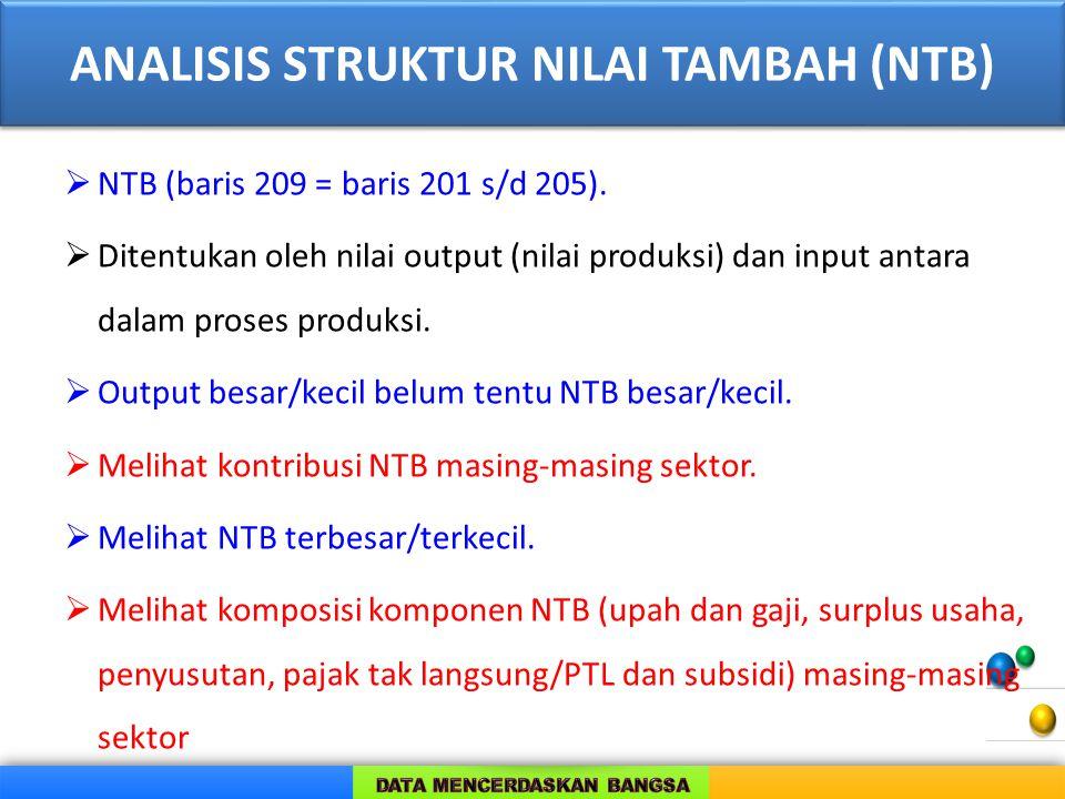 ANALISIS STRUKTUR NILAI TAMBAH (NTB)