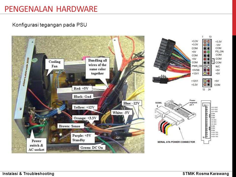 Pengenalan hardware Konfigurasi tegangan pada PSU